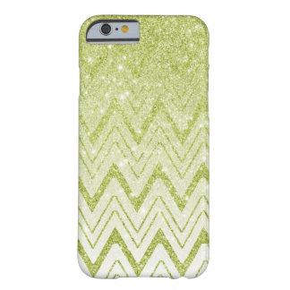 Coque Barely There iPhone 6 Motif vert clair de Chevron de scintillement de