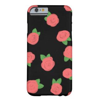 Coque Barely There iPhone 6 Noir en pastel de roses