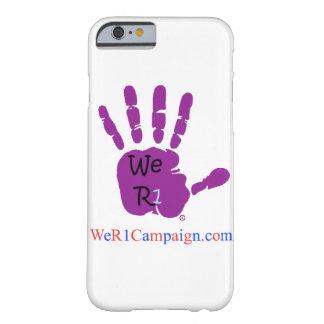 Coque Barely There iPhone 6 Nous caisse pourpre de téléphone de la main R1