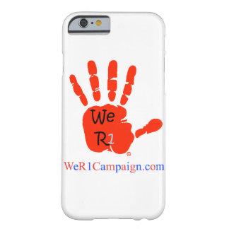 Coque Barely There iPhone 6 Nous caisse rouge de téléphone de la main R1