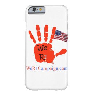 Coque Barely There iPhone 6 Nous cas de téléphone de main de drapeau de R1