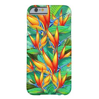 Coque Barely There iPhone 6 Oiseau de nature exotique de fleur de paradis