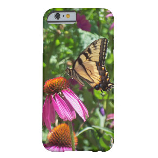 Coque Barely There iPhone 6 Papillon et fleurs de machaon de tigre