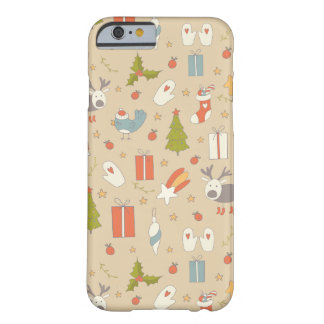 Coque Barely There iPhone 6 Paquet tiré par la main de Noël de bande dessinée
