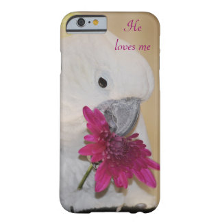 Coque Barely There iPhone 6 Perroquet il m'aime ou pas