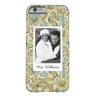 Coque Barely There iPhone 6 Photo faite sur commande et motif de papillon