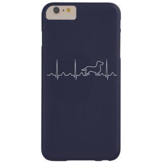 Coque Barely There iPhone 6 Plus Battement de coeur de teckel