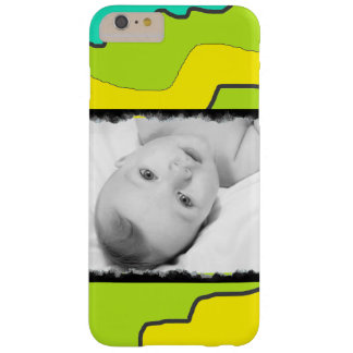 Coque Barely There iPhone 6 Plus Caisse abstraite moderne verte et jaune