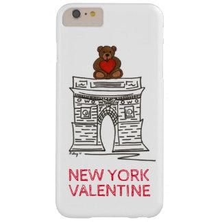Coque Barely There iPhone 6 Plus Cas carré d'ours de nounours de NYC Valentine