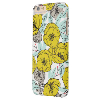 Coque Barely There iPhone 6 Plus Cas floral audacieux moderne