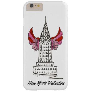 Coque Barely There iPhone 6 Plus Cas rose de gratte-ciel du cupidon NYC de New York