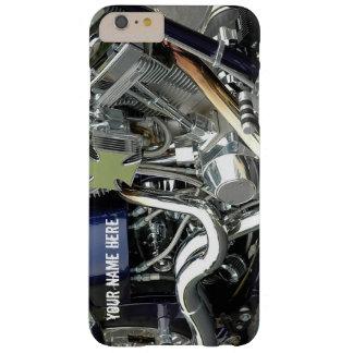 Coque Barely There iPhone 6 Plus Cas V-Jumeau de téléphone de moteur de chrome de