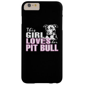 Coque Barely There iPhone 6 Plus Cette fille aime son PITBULL