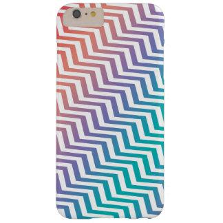 Coque Barely There iPhone 6 Plus Chevron dans des couleurs d'arc-en-ciel