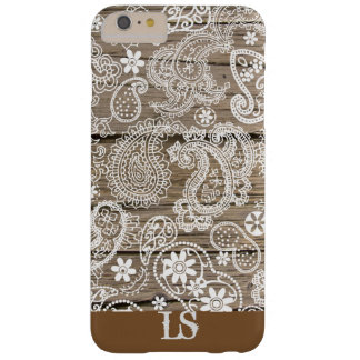 Coque Barely There iPhone 6 Plus Chocolat et Paisley blanc