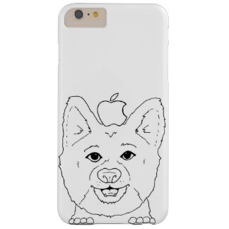 Coque Barely There iPhone 6 Plus Corgi illustré avec la pomme
