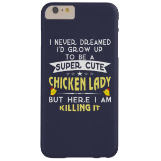 Coque Barely There iPhone 6 Plus Dame mignonne superbe de poulet