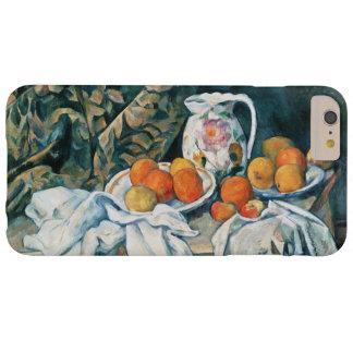 Coque Barely There iPhone 6 Plus De Cezanne toujours rideau en vie, broc fleuri,