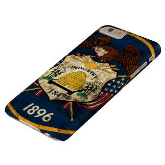 Coque Barely There iPhone 6 Plus Drapeau grunge vintage d'état de l'Utah