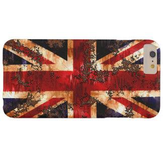 Coque Barely There iPhone 6 Plus Drapeau patriotique rouillé du Royaume-Uni