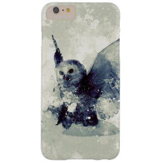 Coque Barely There iPhone 6 Plus Hibou merveilleux dans l'aquarelle
