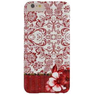 Coque Barely There iPhone 6 Plus iPhone/coque ipad floraux rouges élégants