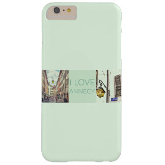 "Coque Barely There iPhone 6 Plus ""Je l'iPhone 6/6S de Coque-Compagnon aime Annecy""+"
