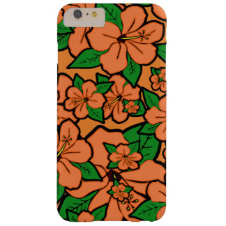 Coque Barely There iPhone 6 Plus La ketmie fleurit la pêche