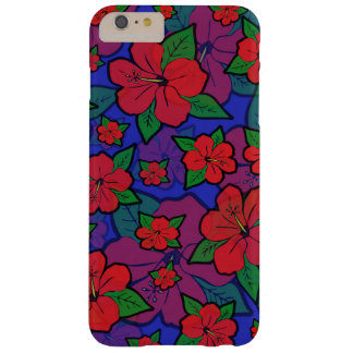 Coque Barely There iPhone 6 Plus La ketmie fleurit le bleu
