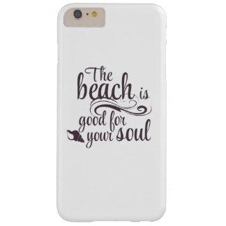 Coque Barely There iPhone 6 Plus La plage est bonne pour votre âme