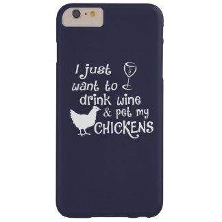 Coque Barely There iPhone 6 Plus Le vin de boissons et choient mes poulets