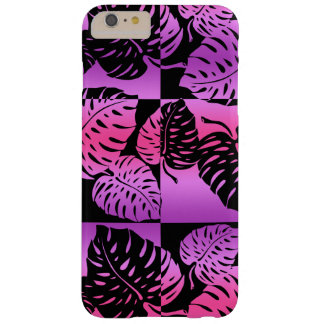 Coque Barely There iPhone 6 Plus Mélange rayé hawaïen de Makua Monstera