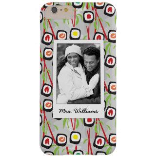 Coque Barely There iPhone 6 Plus Monogramme du motif | de conception de sushi