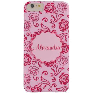 Coque Barely There iPhone 6 Plus Motif floral de trellis des roses de thé sur le