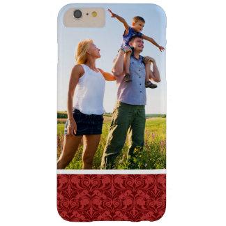 Coque Barely There iPhone 6 Plus Papier peint fait sur commande de rouge de photo