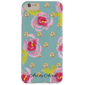 Coque Barely There iPhone 6 Plus Pois scintillant avec la caisse florale