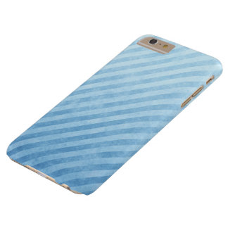 Coque Barely There iPhone 6 Plus Rayures grunges bleu-clair