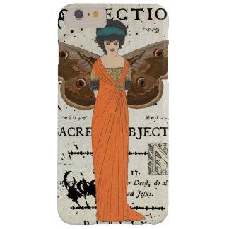 Coque Barely There iPhone 6 Plus Robe orange de femme à ailes par Fatale de Femme