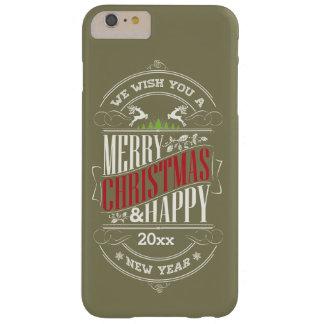 Coque Barely There iPhone 6 Plus Texte de Joyeux Noël et de bonne année,