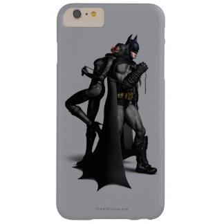 Coque Barely There iPhone 6 Plus Ville | Batman de Batman Arkham et Catwoman