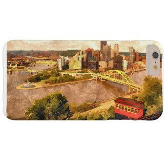 Coque Barely There iPhone 6 Plus Ville de Pittsburgh je téléphone le cas