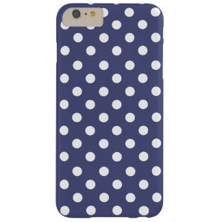 Coque Barely There iPhone 6 Plus White polka dots in blue