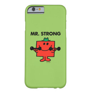Coque Barely There iPhone 6 Poids de levage de M. Strong |