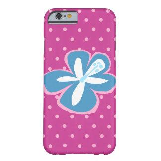 Coque Barely There iPhone 6 Point de polka coupé par Hawaïen de ketmie de