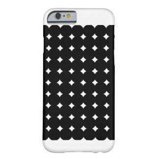 Coque Barely There iPhone 6 Pois noir de cas d'Iphone 6/6S, blanc