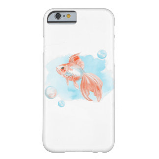 Coque Barely There iPhone 6 Poisson rouge. Aquarelle
