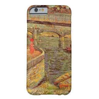 Coque Barely There iPhone 6 Ponts de Van Gogh à travers la Seine chez Asnieres