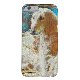 Coque Barely There iPhone 6 Portrait royal d'huile de lévrier afghan