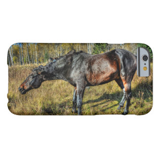 Coque Barely There iPhone 6 Pur sang noir Percheron secouant outre de l'eau