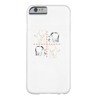 Coque Barely There iPhone 6 Rhinocéros/éléphant